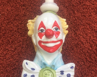 Unusual Clown lamp made in Holland.