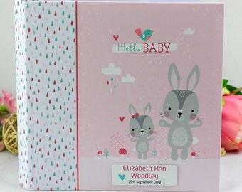 Baby Girl Photo Album with Name Plaque