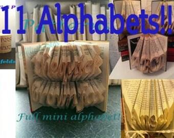 11 Book folding Alphabets
