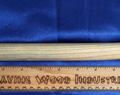 Handmade Elongated Ash Wood Dildo - Lanky Curve