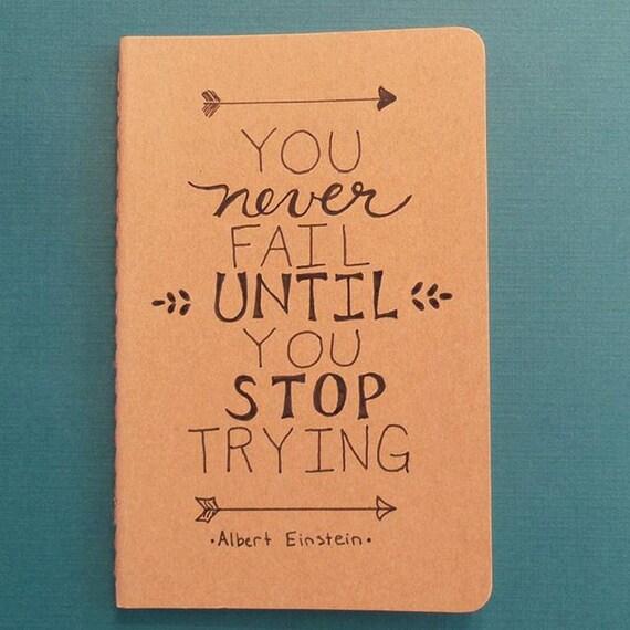 Inspirational Quotes About Failure: Albert Einstein Einstein You Never Fail Until You Stop