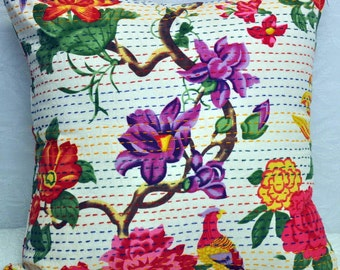 Kantha cushion kantha pillow Decorative pillow 50X50cm