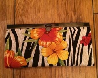 Floral/Zebra Print Purse