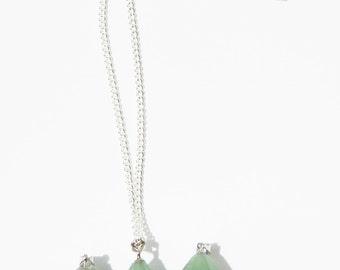 Aventurine Necklace, Green Aventurine Necklace, Aventurine Pendulum Necklace, Aventurine Crystal Necklace, Crystal Necklace, Aventurine