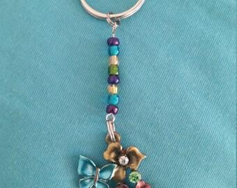 Handmade beaded keychain with beadwork