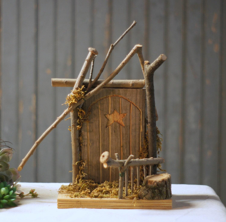 Wooden fairy door garden fairy door woodland decor by for Wooden fairy doors