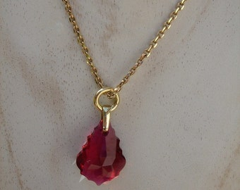 Necklace in gold 585 (14 K) with Crystal!
