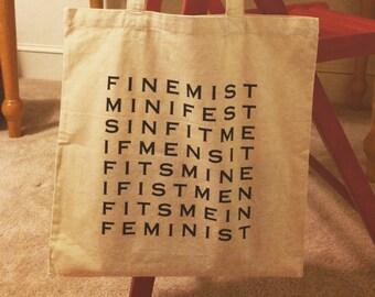 Feminist Anagram Tote Bag