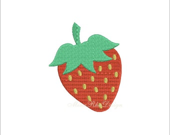 Strawberry Embroidery Design Instant Download