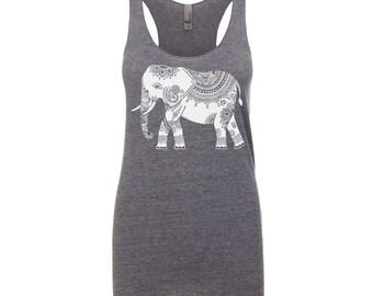 Yoga Shirt - Yoga Clothing - Yoga Tank Top - White elephant