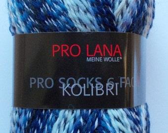 sock yarn, blue patternd, 6ply, from Pro Lana (299)