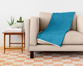 Cerulean Blue Blanket, Blue Throw Blanket, Blue Fleece Blanket, Blue Blanket, Blue Couch Blanket, Blue Bed Blanket, Blue Room, Blue Bedding