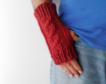 Fingerless mittens gloves, mens gloves, knit mittens gloves, wool mittens, wrist warmers mens mittens mens fingerless fingerless mitts men