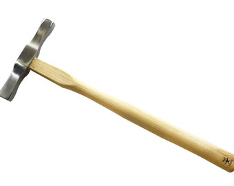 "10"" Goldsmith and Jeweler's Raising Hammer w/ Two Hex Heads Jewelry Metal Forming Tool - HAM-0011"