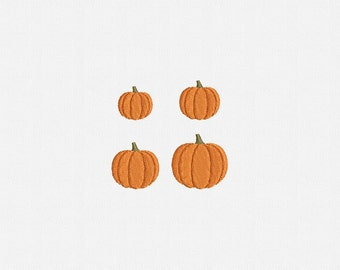 Mini Pumpkin Machine Embroidery Design - 4 Sizes
