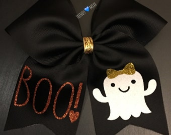 Halloween boo bow