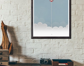 Blast Off - Aero Spaceship Poster