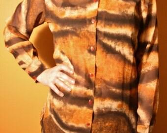 Sheer Tiger Print Shirt
