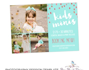 Back to School Mini Session Marketing Board - Template for Photographers - Digital Photoshop Template - 5x7 Photography Design - BTS02