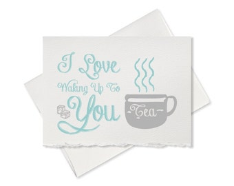I love waking up to you funny love card pun for couples boyfriend girlfriend husband wife cards for him cards for her i love you anniversary