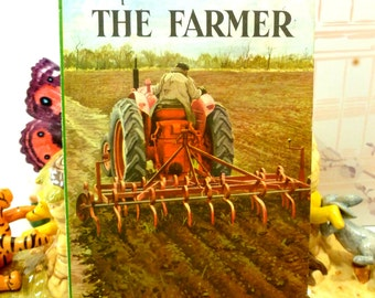 The Farmer Vintage LadyBird Easy Reading Book Series 606B People at Work 1st Ed Matt Cover 1963 Nature Book
