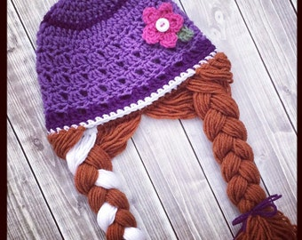 Free Crochet Pattern For Anna Hat : Anna crochet hat Etsy