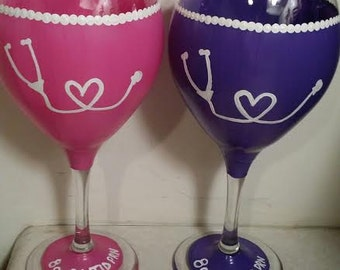 Nurse Wine Glass - Doctor Wine Glass