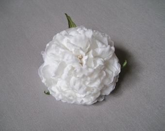 "Silk flower brooch ""Peony"""