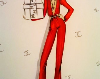 Chanel Mania ORIGINAL Fashion Illustration