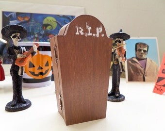 Wooden RIP Coffin [Small Handmade Wooden Coffin Box]