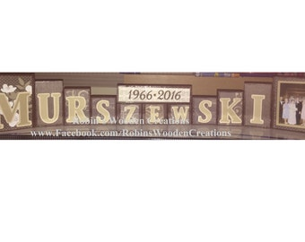 Personalized Wooden Name & Anniversary Blocks - Custom Made to Order