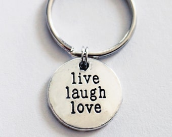 Live Laugh Love Keychain. Lucky to be on this JOURNEY with You, Anniversary,boyfriend girlfriend gift, Inspirational gift