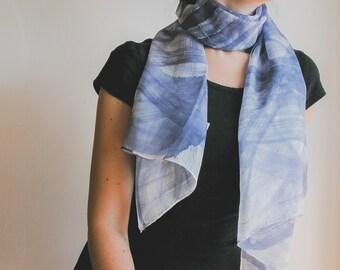 Perwinkle Silk Scarf, christmas gift