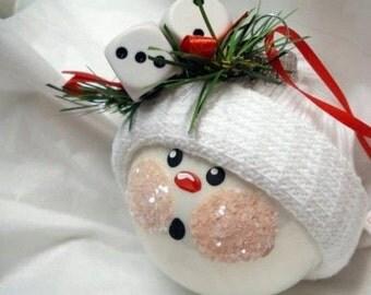 Ping Pong ball Snowman