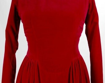 Vintage 1960s Red Velveteen Gown by Esther Pomerantz- SO Dreamy and Gorgeous!!!