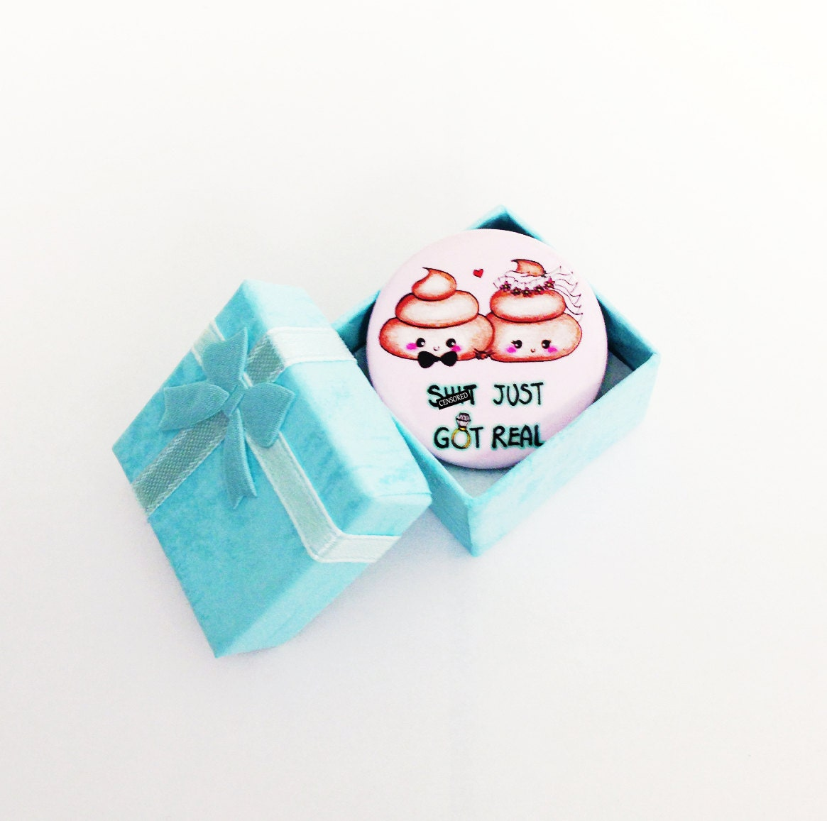 Cute Wedding Gift Ideas: Cute Wedding Gift Bridal Shower Gift Cute Poop Button