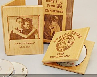 CD/DVD Case-Real Hardwood, Master Craftsmanship-Personalize, Engrave-Birthday Present, Wedding Favor/Gift, Fathers/Mothers Day, Anniversary,