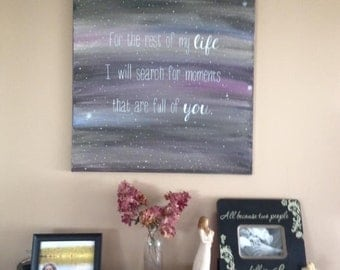 Night Sky Canvas with Quote - Customizable!