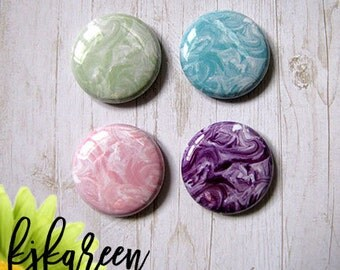 """Badge 1 """"- marble Texture"""