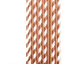 Rose Gold Straw, Decorative Straw, Buffet, Rose Gold Decor, Valentines Day, Party Decor, Rose Gold Wedding, Copper Decor, Shimmer Straw