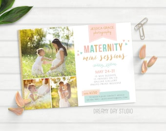 maternity mini session, photography mini session, mini session template, pregnancy mini session, maternity photography, marketing, brochure