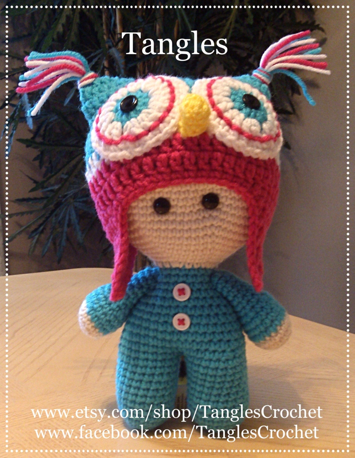 Owl Big Head Baby Doll Amigurumi Made to Order