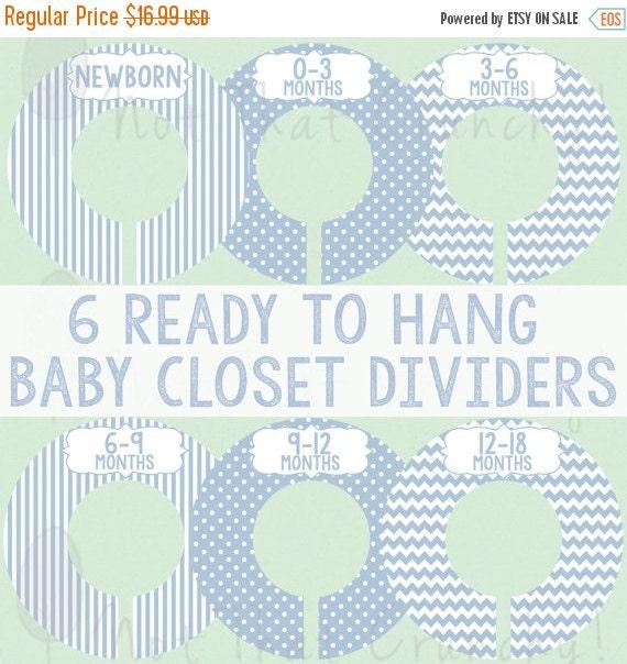SALE Blue Baby Boy Closet Dividers Boy Closet by