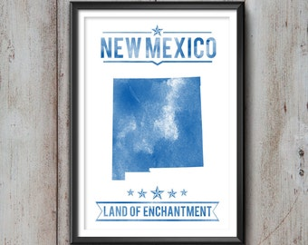 NEW MEXICO State Typography Print, Typography Poster, New Mexico Poster, New Mexico Art, New Mexico Gift, New Mexico Decor, New Mexico Print