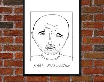Badly Drawn Karl Pilkington - 'An Idiot Abroad' Poster