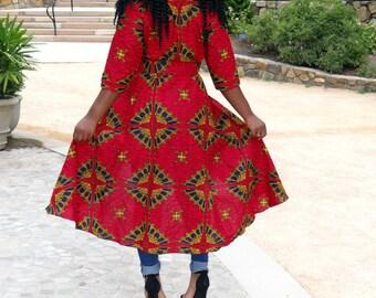 African Flare dress-jacket