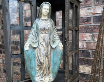 Blessed Virgin Mary cement statue