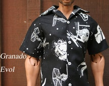 ABJD SID Evol DT18 Glow In The Dark Star Wars aloha shirt