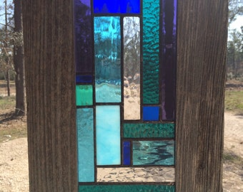 "Stained Glass in Shades of Blue ""Harmony"""