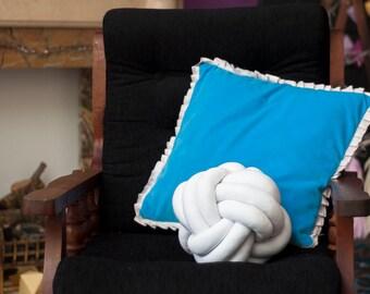 Knot pillow handmade soft decor